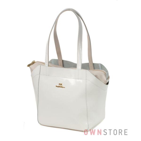 Купить белую кожаную женскую сумку Farfalla Rosso - арт.91347