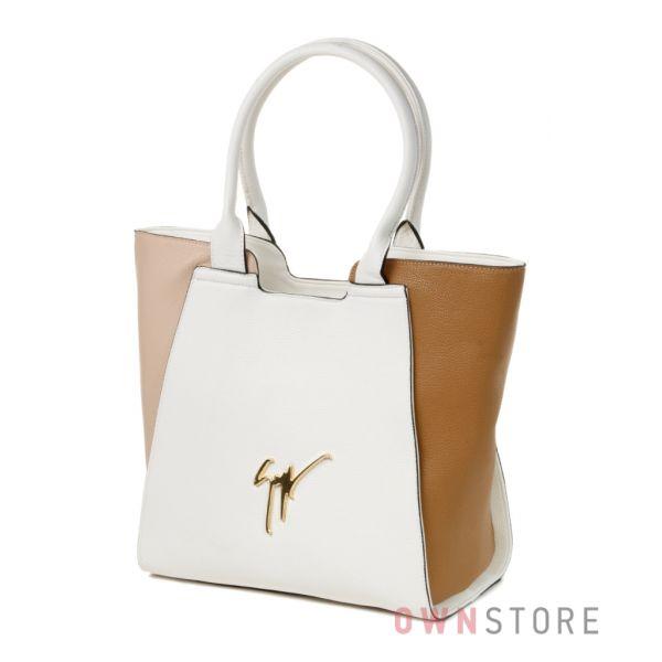 Купить трехцветную женскую сумку на лето Farfalla Rosso - арт.91429