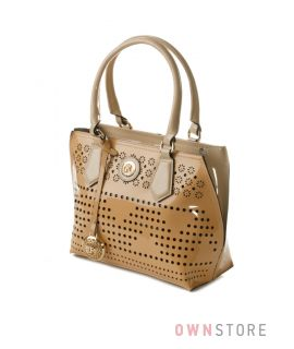 Купить сумку женскую  лаковую с перфорацией от Farfalla Rosso - арт.91513