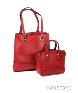 Купить комплект из двух женских сумок красный - арт.1968