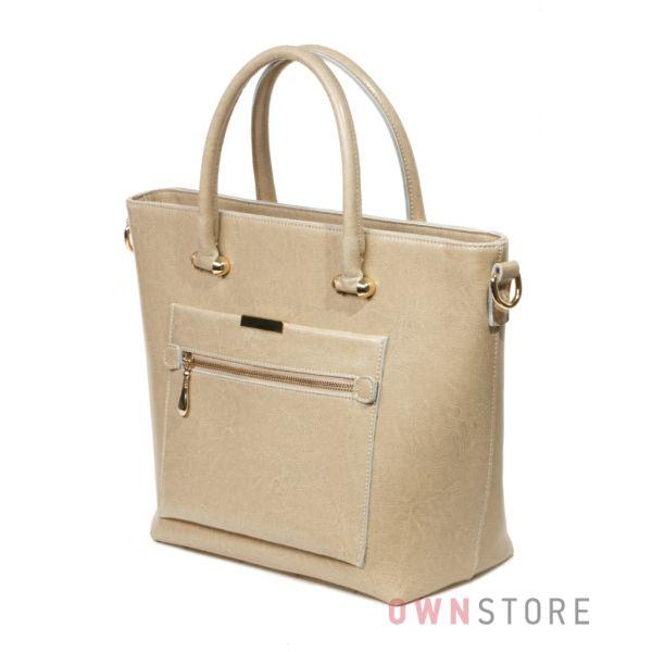 Купить женскую кожаную сумку - классическую  с карманом от Meglio  - арт.792497