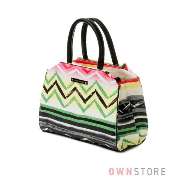 Купить сумочку женскую Велина Фабиано - мини с цветными зигзагами - арт.53848-1
