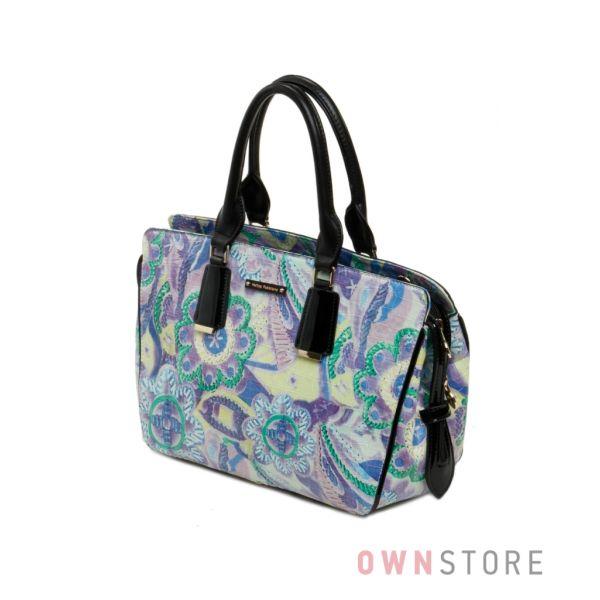 Купить васильковую женскую сумку Velina Fabbiano из кожзама - арт.53880