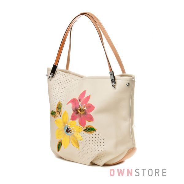 Купить сумку - мешок женскую с яркими цветами от Velina Fabbiano - арт.551020