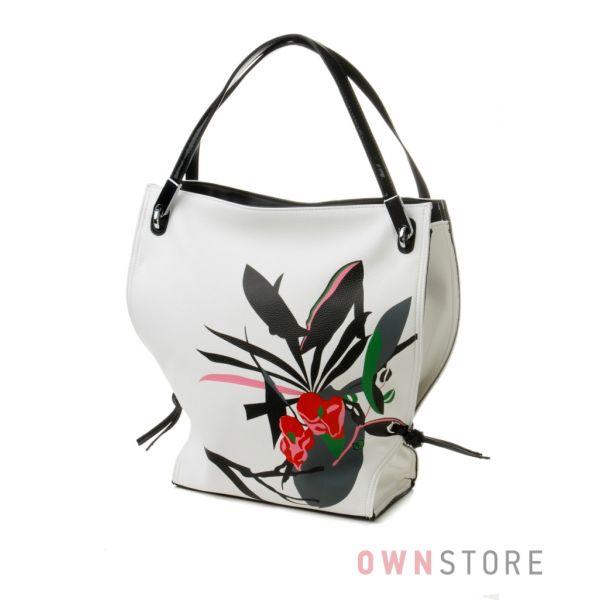 Купить сумку женскую белая с цветком онлайн в интернет-магазине - арт.551059