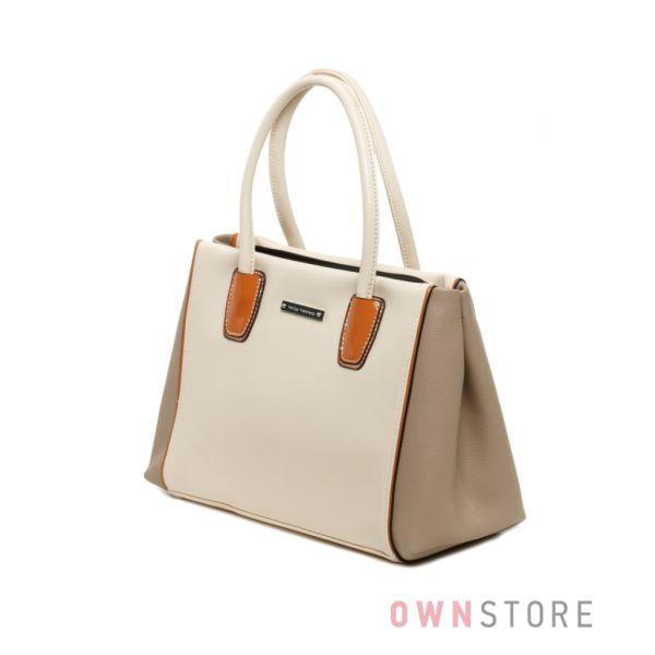 Купить сумку женскую Velina Fabbiano в бежевых тонах  - арт.57859-2