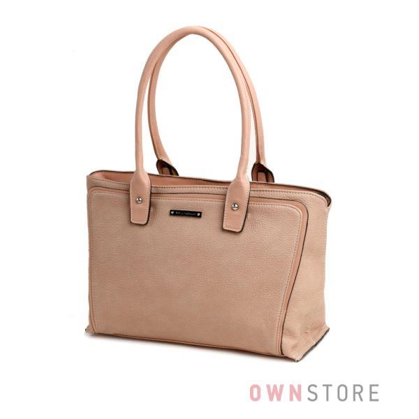 Купить сумку женскую из кожзаменителя кремовую Velina Fabbiano - арт.57863-1