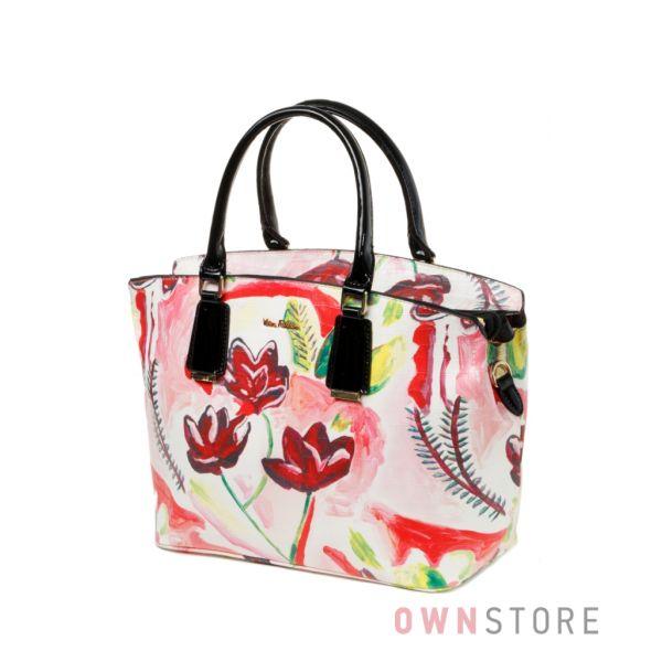 """Купить сумку женскую """"Цветочный микс"""" Velina Fabbiano из кожзама - арт.57886А"""