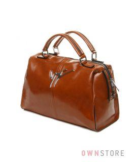 Купить сумку-саквояж женскую Велина Фабиано  рыжую с двумя ручками - арт.59703-1