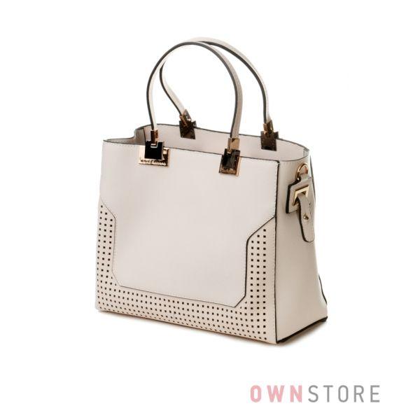Купить сумку в сумке женскую Velina Fabbiano бежевую - арт.59724-2