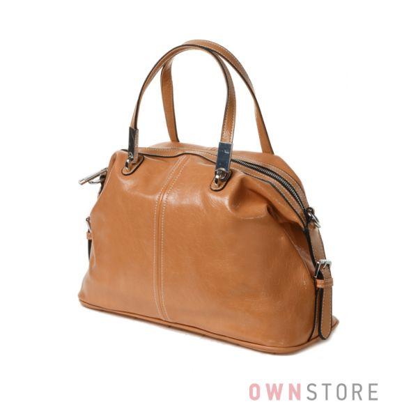 Купить женскую сумку Velina Fabbiano цвета карамели - арт.59729-4