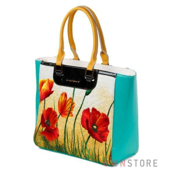 Купить женскую сумку Velina Fabbiano с вышивкой  - арт.61383