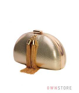 Купить клатч женский золотой парчовый полукруглый от Rose Heart - арт.09818