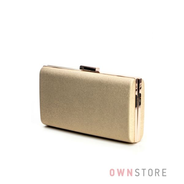 Купить недорого клатч женский классический парчовый золотой - арт.8010