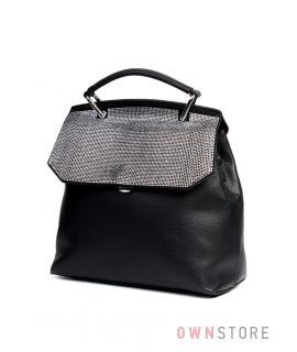 Купить сумка-рюкзак женскую со стразами на клапане от Велина Фабиано - арт. 551389