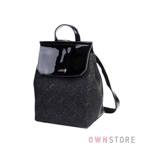 Купить рюкзак женский от Велина Фабиано с гипюровой отделкой и лаковым клапаном онлайн - арт.59985-10