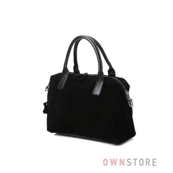 Купить замшевую женская сумку в классическом стиле онлайн  - арт.514