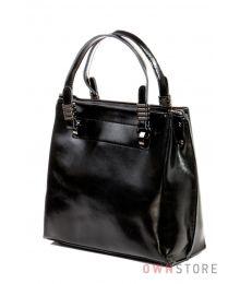 Небольшая кожаная черная сумка(арт.1985)