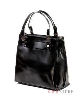 Купить небольшую женскую кожаную черную сумку Farfalla Rosso - арт.1985