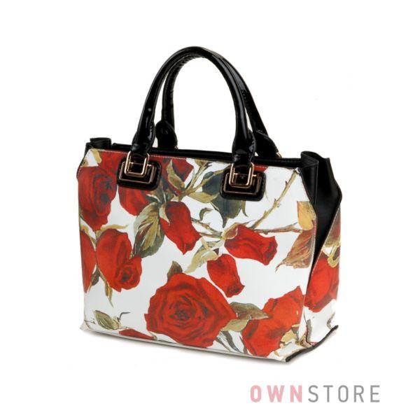 Купить сумку женскую с розами от Velina Fabbiano онлайн - арт.18087-1
