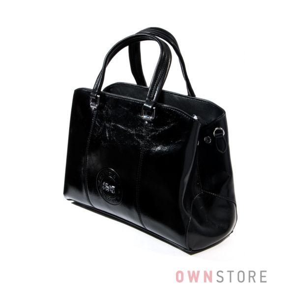 Купить сумку женскую из кожзама с эмблемой от Velina Fabbiano - арт.37555-1