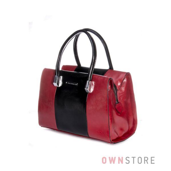 Купить женскую сумку от Велина Фабиано  комбинированную красно-черную в Украине - арт.53901-10