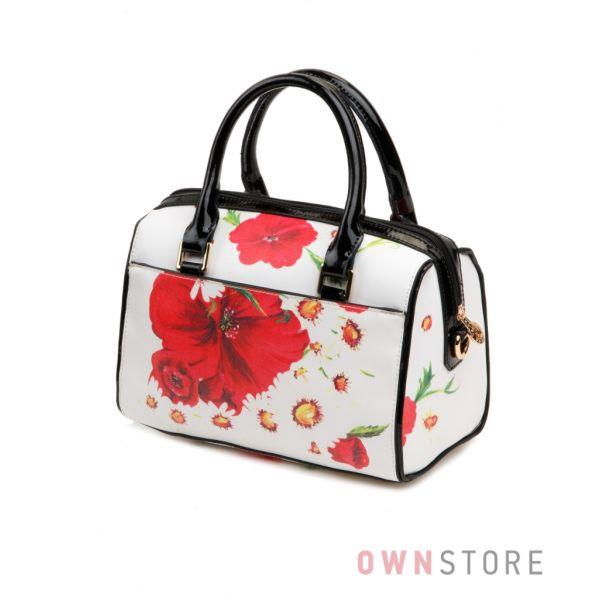 Купить небольшую женскую сумку-саквояж с ромашками Велина Фаббиано - арт.61332