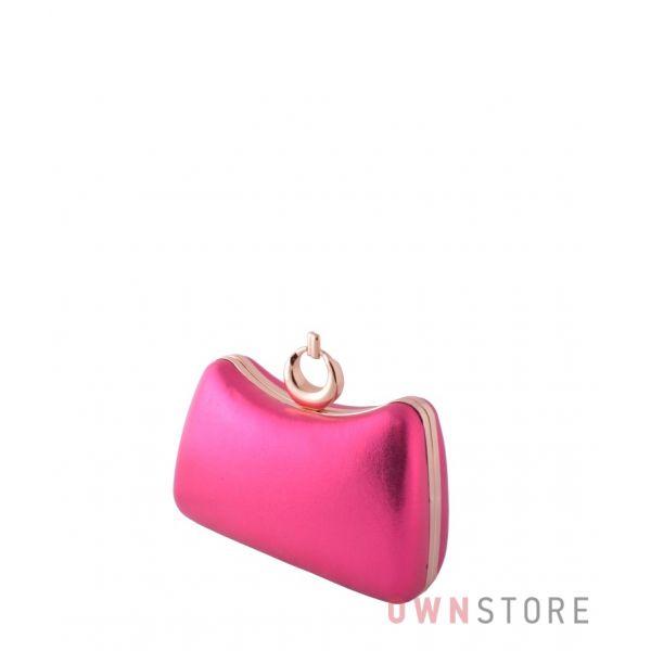 Купить женский клатч  онлайн малиновый парчовый изогнутый - арт.09819