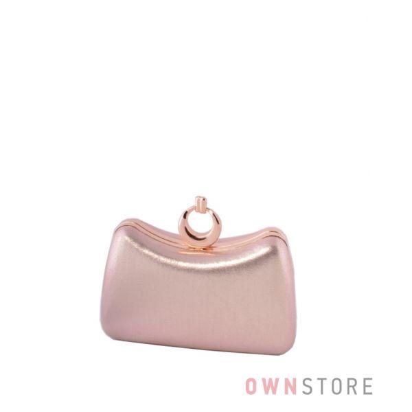 Купить клатч женский золотой парчовый изогнутый от Rose Heart - арт.09819