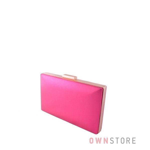 Купить онлайн женский клатч малиновый парчовый плоский - арт.09837