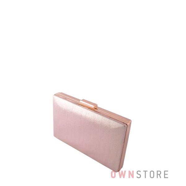 Купить женский клатч из золотой парчи плоский онлайн - арт.09837