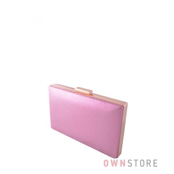 Купить онлайн клатч женский розовый парчовый плоский - арт.09837