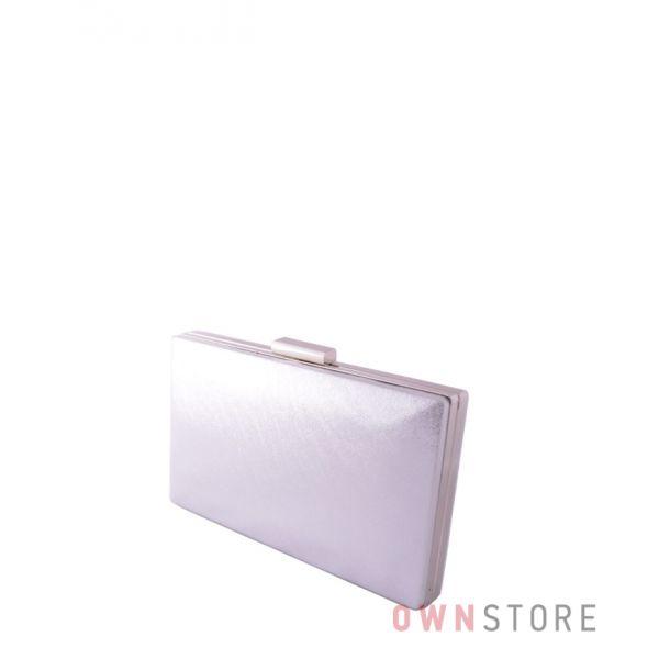 Купить онлайн клатч женский серебряный парчовый плоский - арт.09837