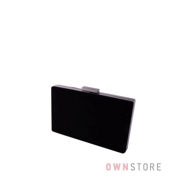 Купить клатч женский черный замшевый плоский от Rose Heart - арт.09837