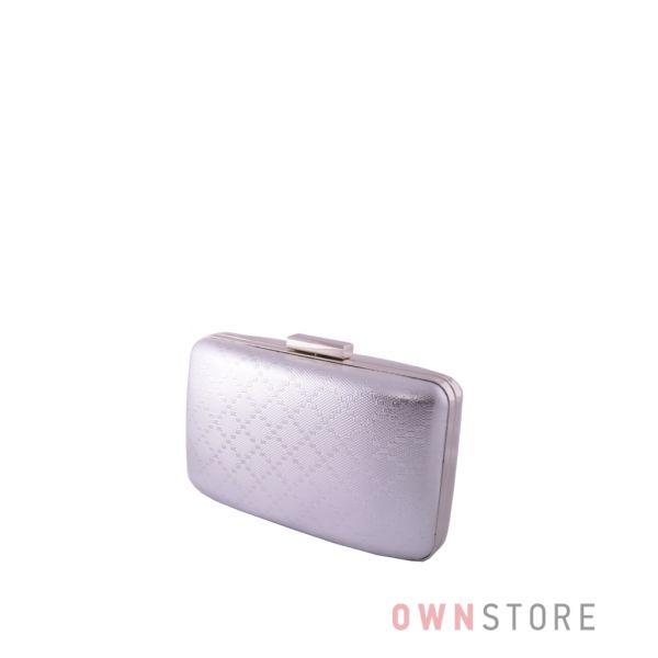 Купить клатч женский серебряный с геометрическим рисунком от Rose Heart - арт.09900