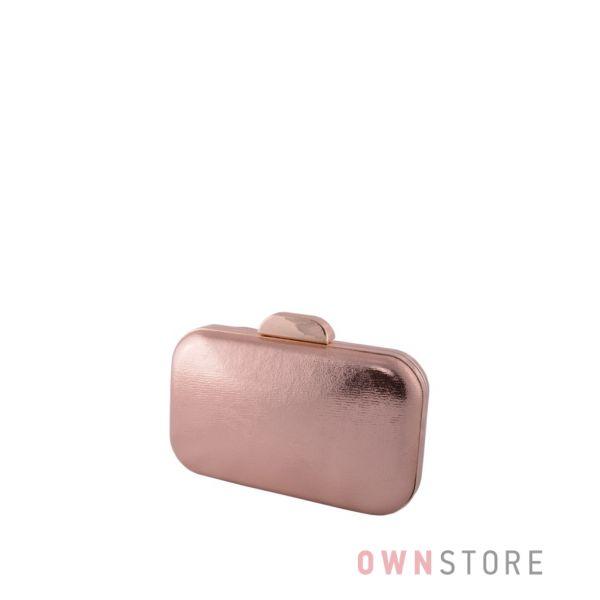 Купить онлайн небольшой парчовый женский клатч цвета шампань от Rose Heart - арт.204