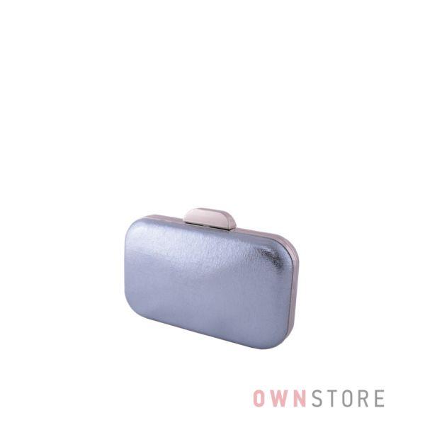 Купить онлайн небольшой голубой парчовый женский клатч - арт.204