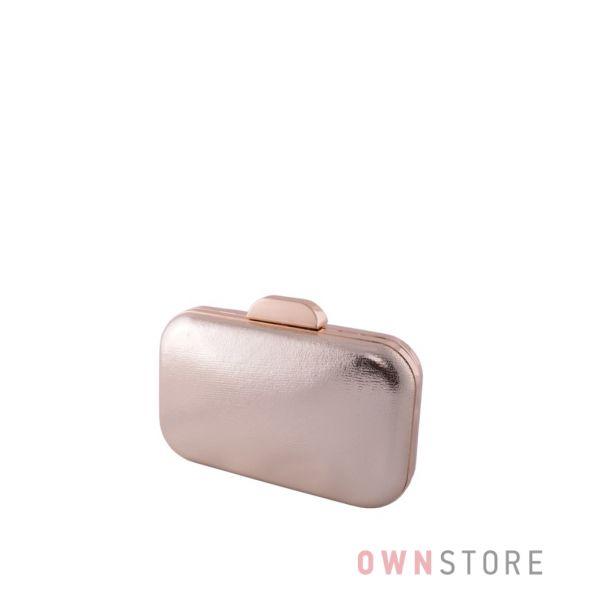 Купить онлайн небольшой золотой парчовый женский клатч от Rose Heart - арт.204