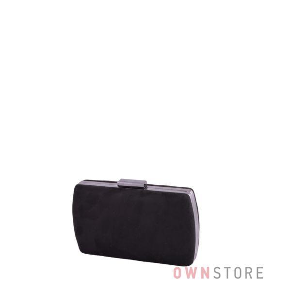 Купить онлайн клатч женский черный из замши от Rosa Heart - арт.283