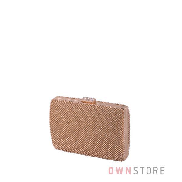 Купить онлайн клатч женский золотой со стразами - арт.821