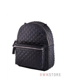 Купить онлайн рюкзак женский черный с заклепками - арт.13546