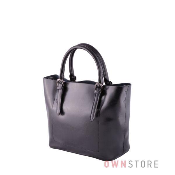 Купить онлайн черную женскую сумочку из кожи - арт.293