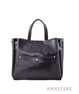 Купить онлайн большую женскую суму-портфель из кожи от Фарфалла Россо - арт.5076