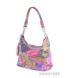 Сумка-мешок с яркими цветами(арт.8062)