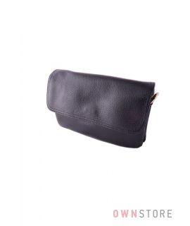 Купить женский кожаный клатч черного цвета онлайн - 8241