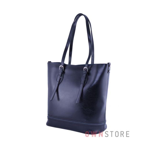 Купить онлайн сумку женскую черную из натуральной кожи - арт.9005