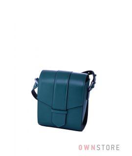 Купить онлайн маленькую женскую наплечную бирюзовую сумочку - арт.9021