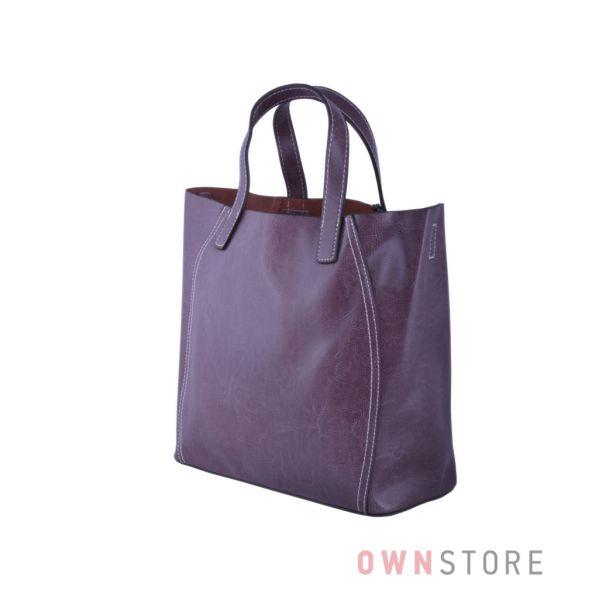 Купить онлайн сумку женскую из натуральной кожи фрезовую - арт.99912