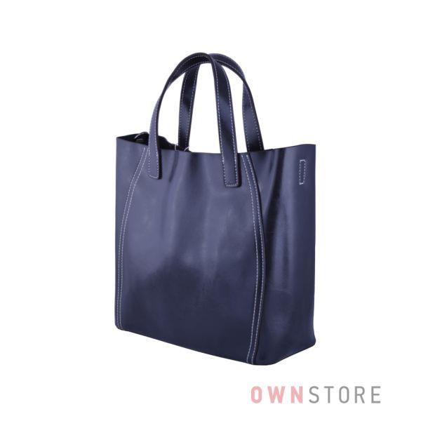 Купить онлайн сумку женскую из натуральной кожи графитовую - арт.99912