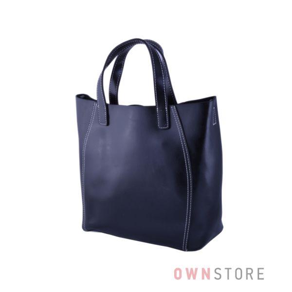 Купить онлайн сумку  женскую из натуральной кожи черную - арт.99912